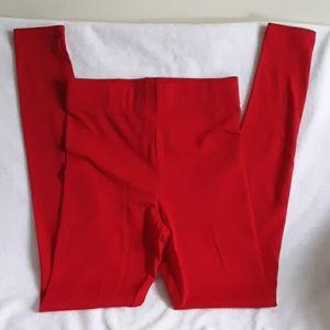 Forever 21 NWT Red Long Leggings